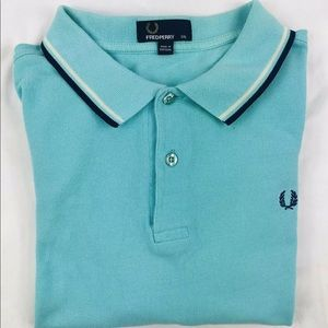 Fred Perry Light Blue Polo Size Mens XL EUC